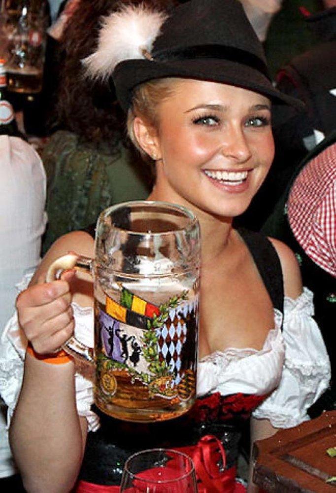 Making busty german bar maids